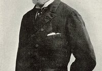 Black and White Photograph of Camille Saint-Saëns circa 1880