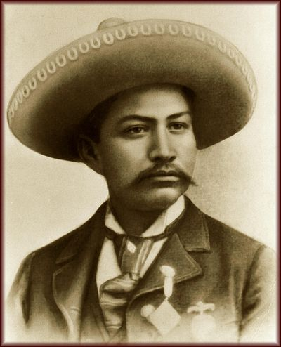 Photograph of Juventino_Rosas in 1894 wearing a sombrero