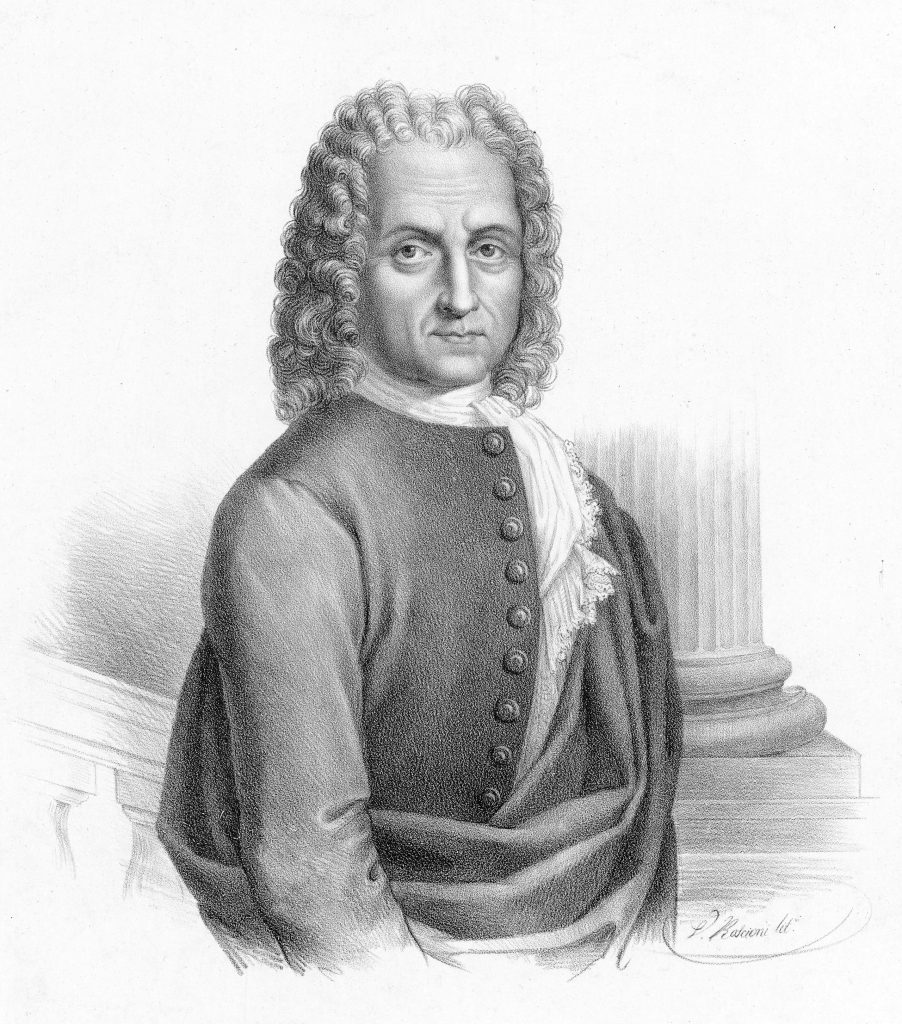 Black & White Portrait of Benedetto Marcello by Vincenzo Roscioni