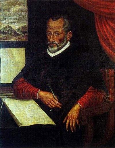 Colour portrait of Giovanni Pierluigi da Palestrina