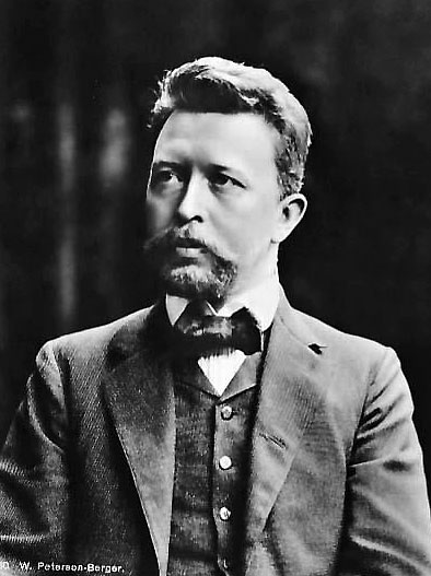Black and white portrait photograph of Wilhelm Peterson Berger