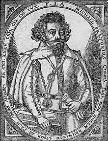 Black and White image of Michael Praetorius