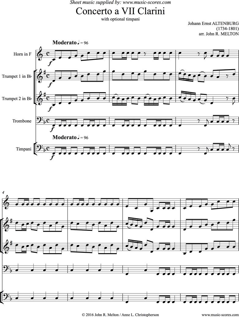 Concerto: Brass Quartet by Altenburg