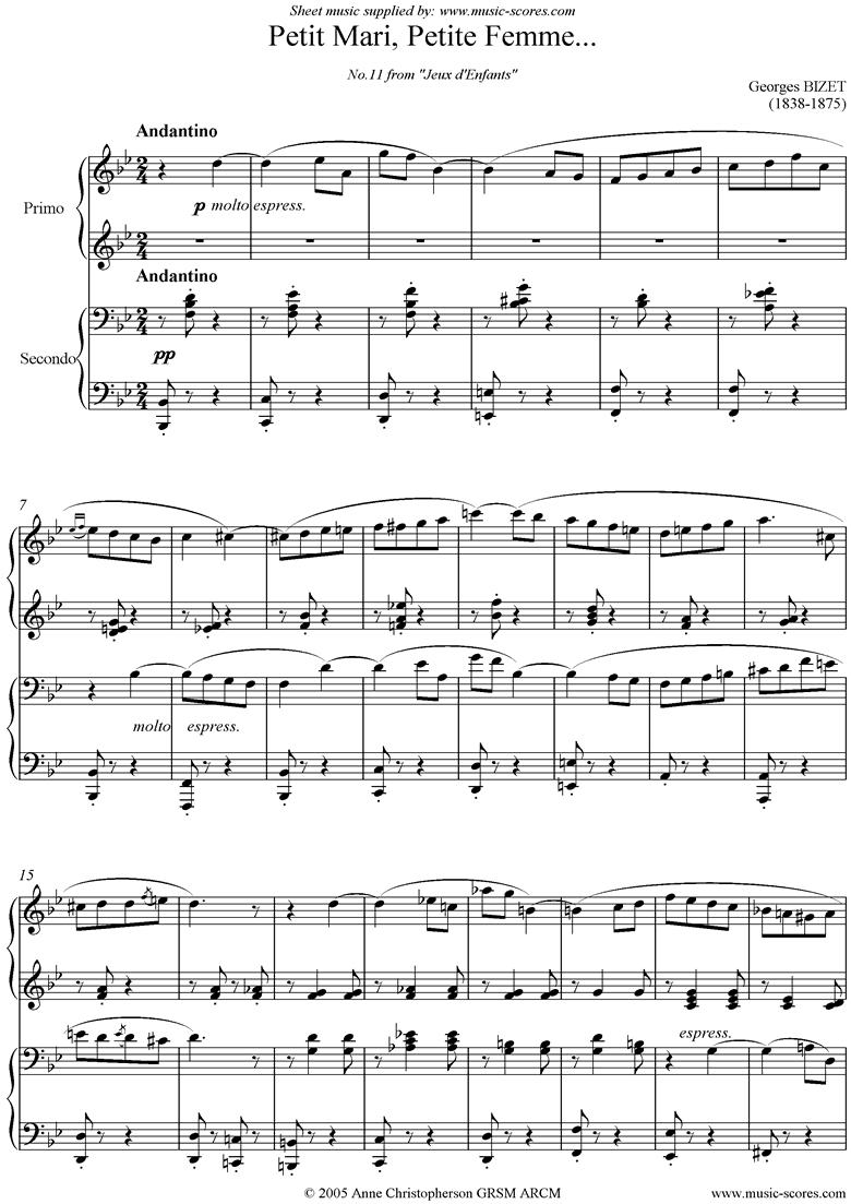 Jeux d Enfants: Petit Mari, Petite Femme: Duet by Bizet