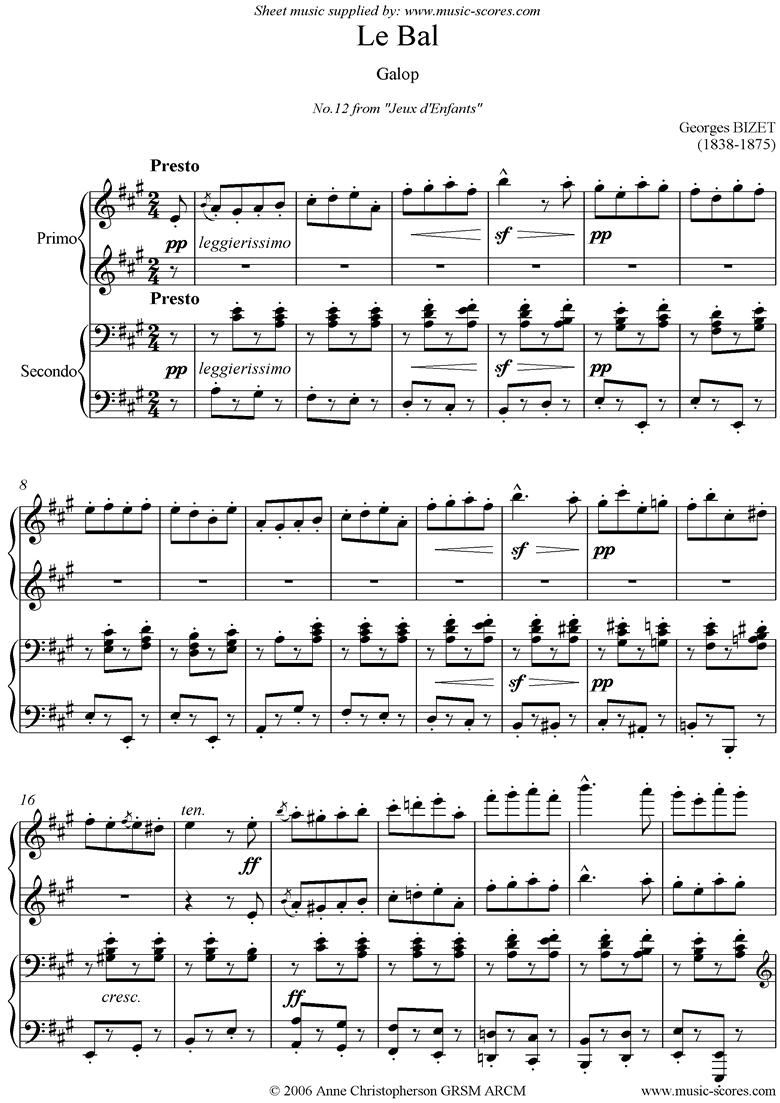 Jeux d Enfants: Le Bal by Bizet