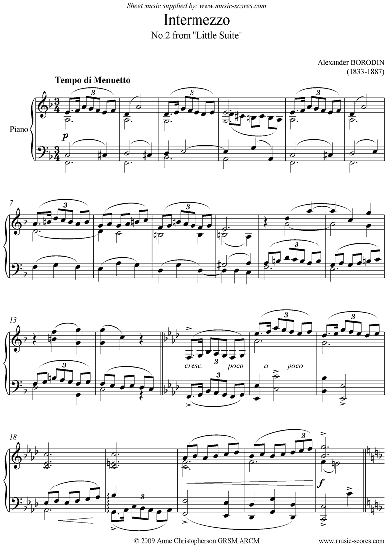 Front page of Little Suite: No.2: Intermezzo sheet music