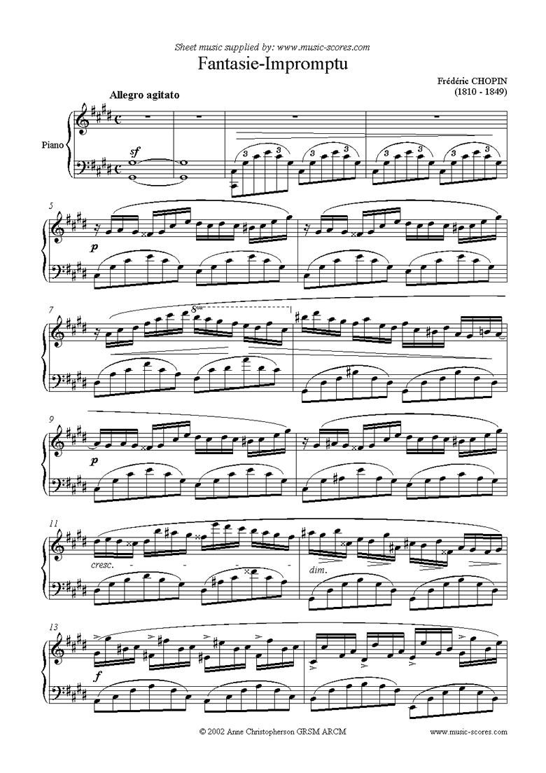 Front page of Op.66: Fantasy Impromptu sheet music
