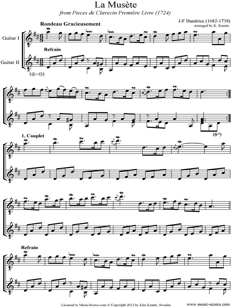 La Musete: 2 Guitars by Dandrieu