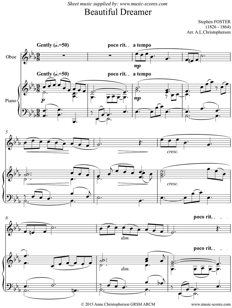 Beautiful Dreamer: Oboe by Foster