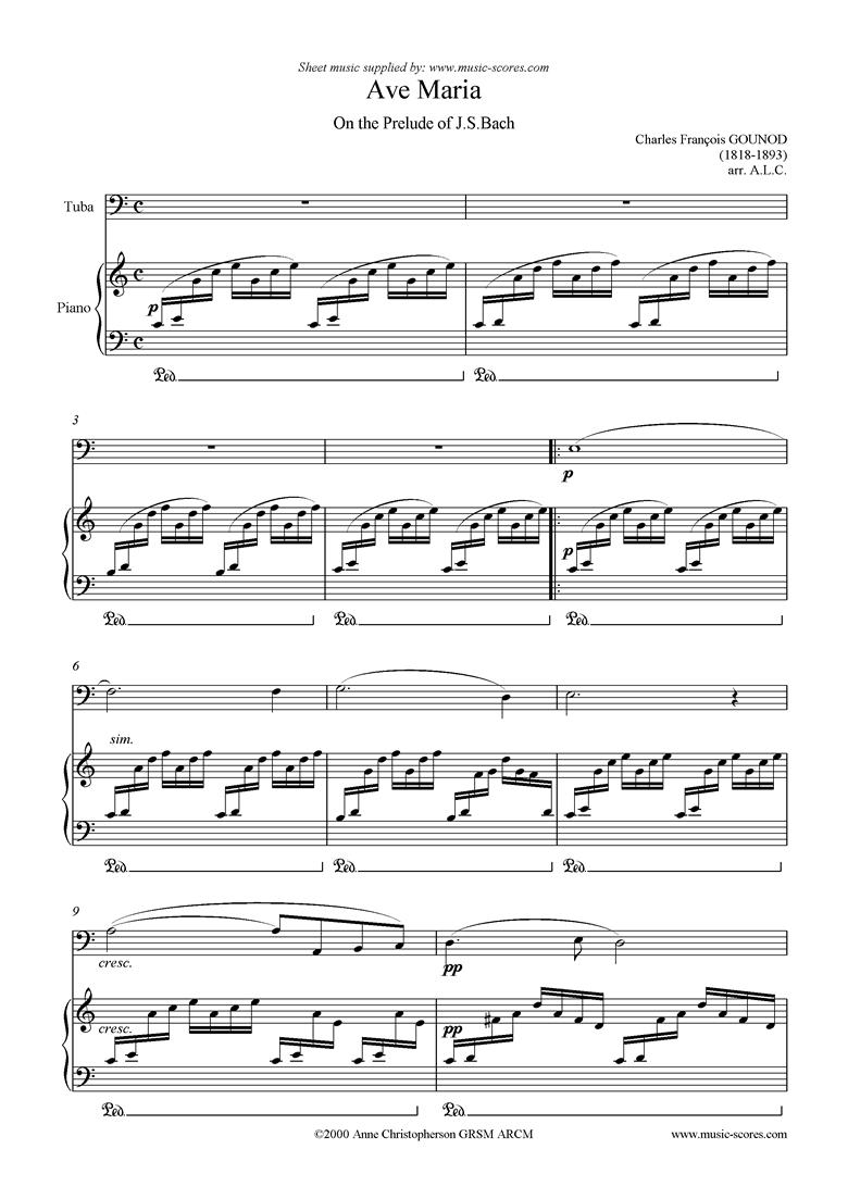 Ave Maria: Tuba by Gounod