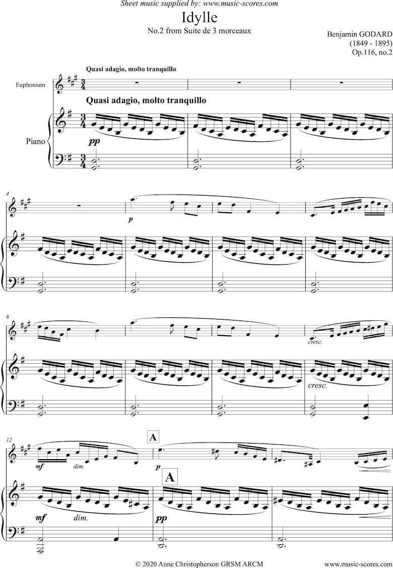 Op.116b Idylle: Euphonium and Piano by Godard