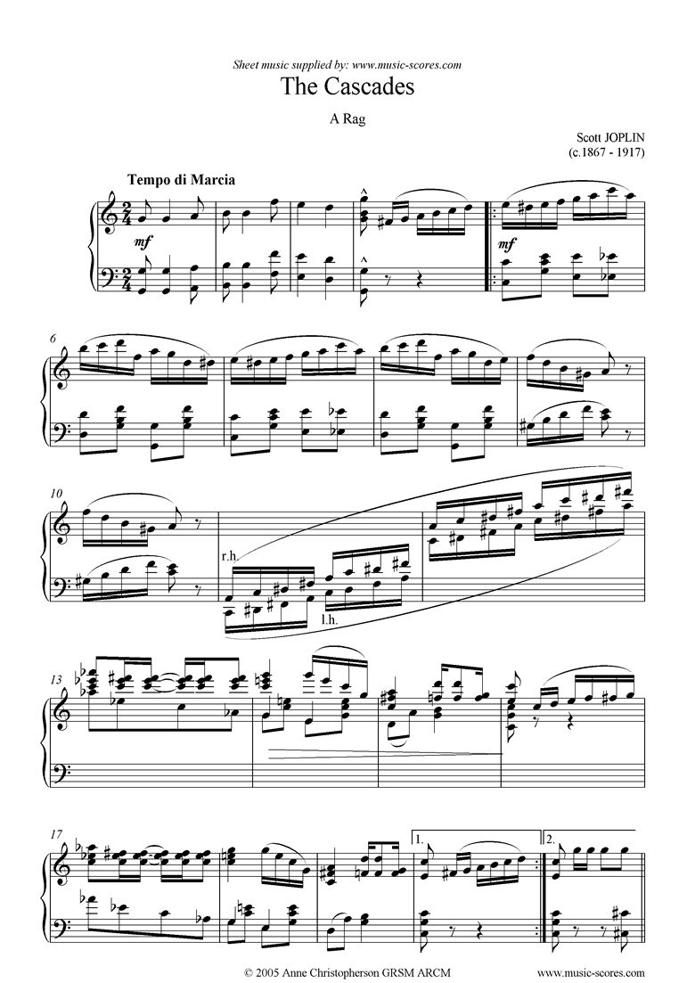 The Cascades: Piano  by Joplin