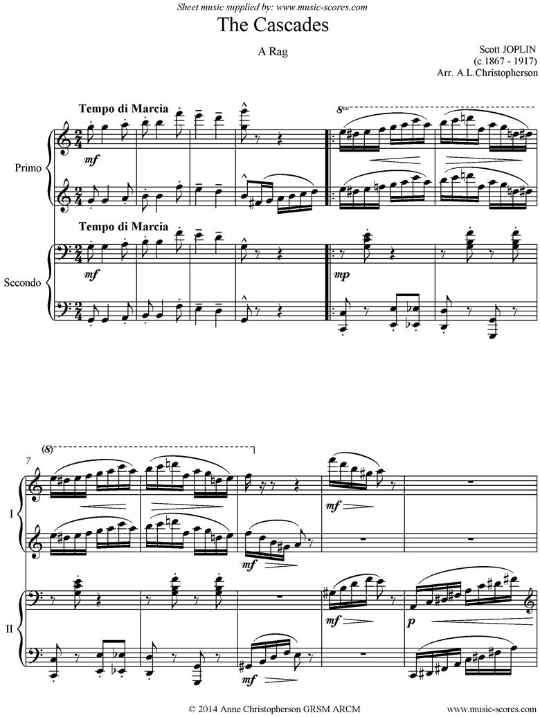 The Cascades: Piano Duet by Joplin