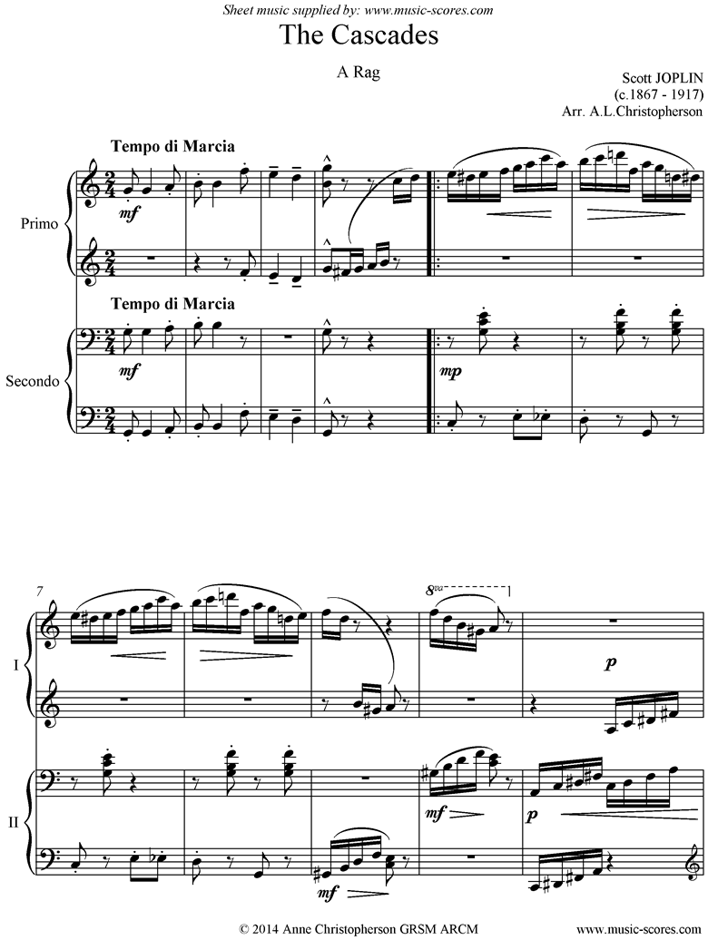The Cascades: Piano Duet, short by Joplin