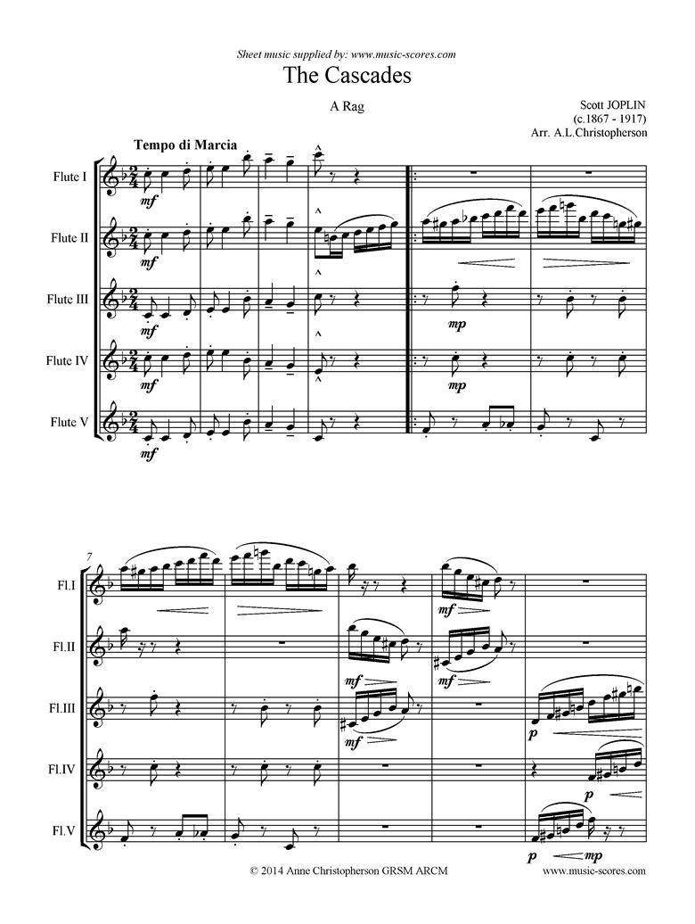 The Cascades: 5 Flutes by Joplin