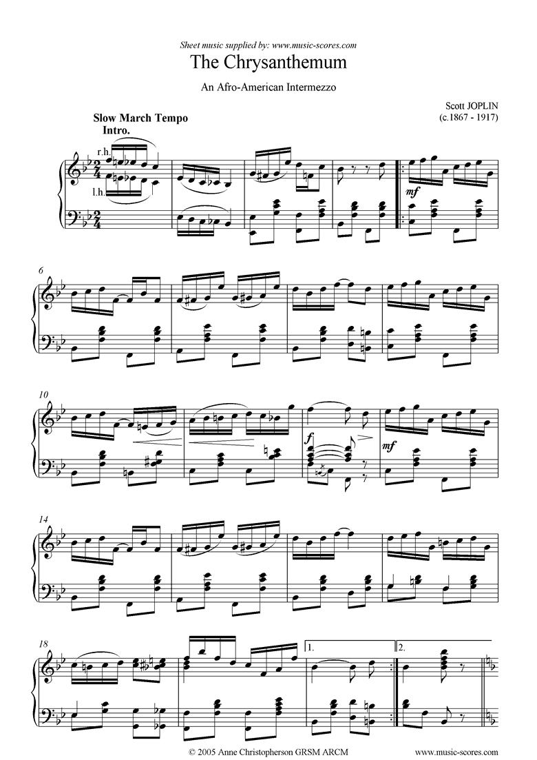 The Chrysanthemum by Joplin