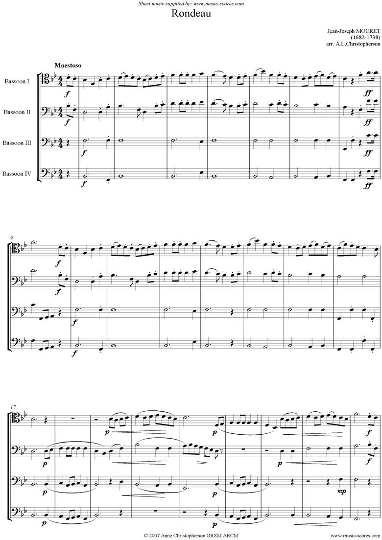 Rondeau: Bridal Fanfare: 4 bassoons by Mouret