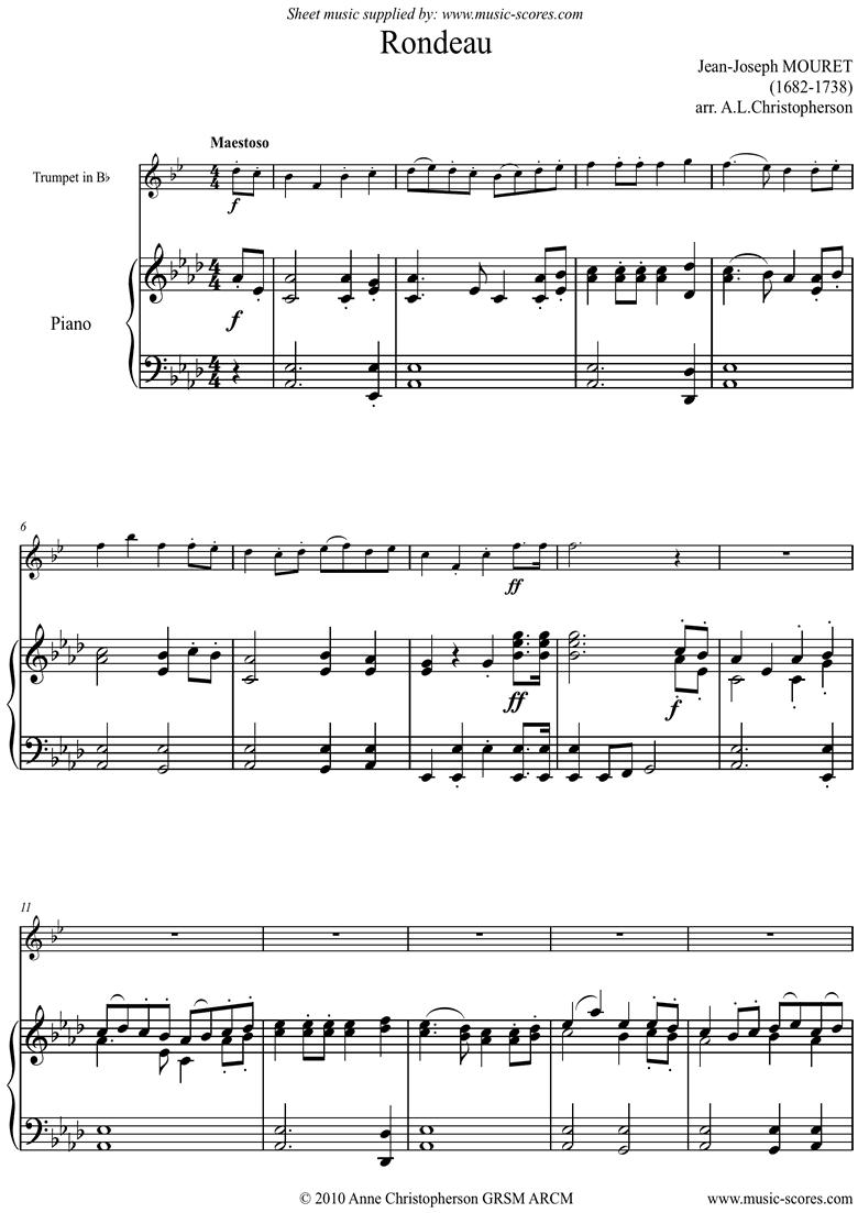 Rondeau: Bridal Fanfare: Trumpet by Mouret
