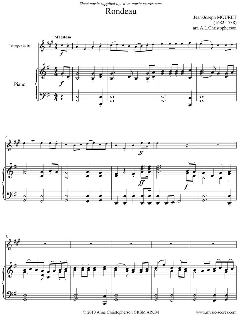 Rondeau. Bridal Fanfare: Trumpet, Gma. by Mouret