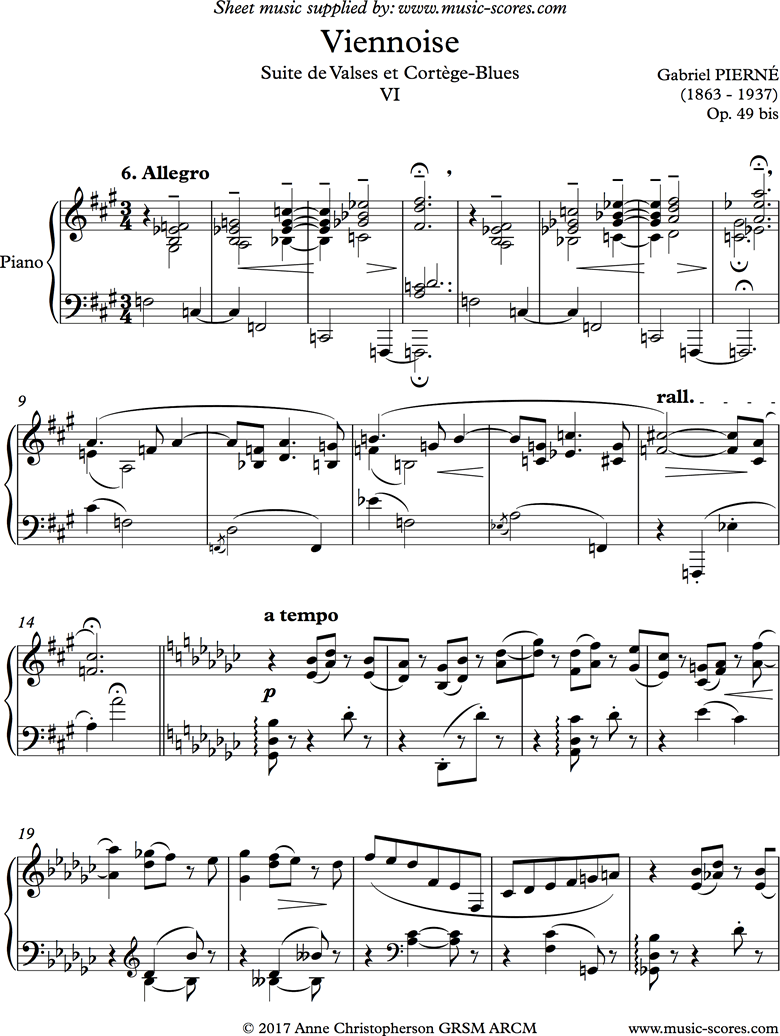 Front page of Viennoise: Valse 06: Piano sheet music