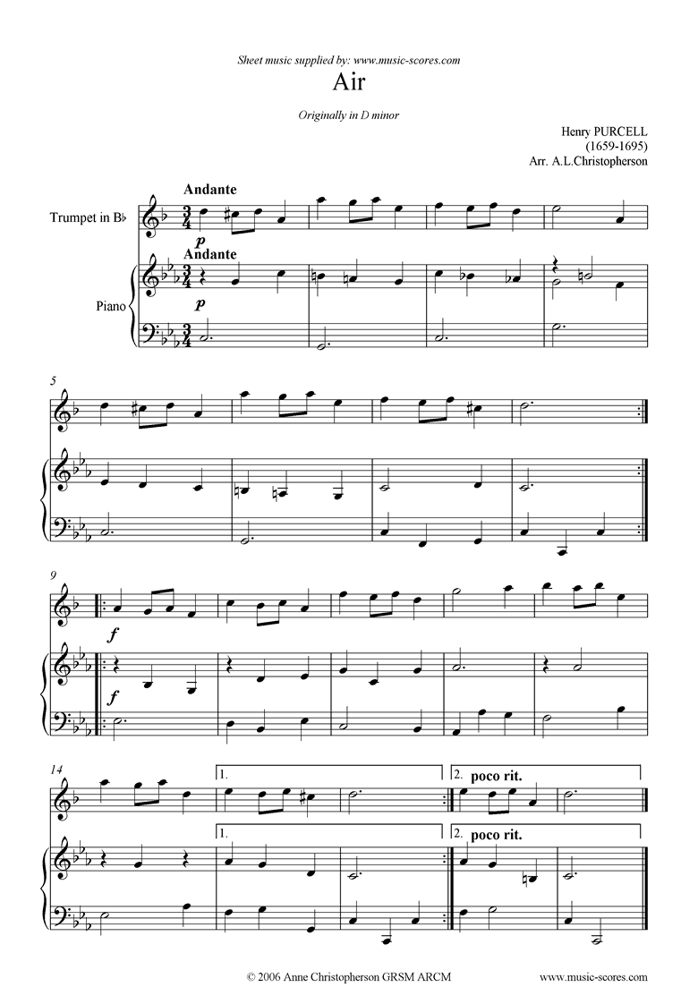 Air: Trumpet by Purcell