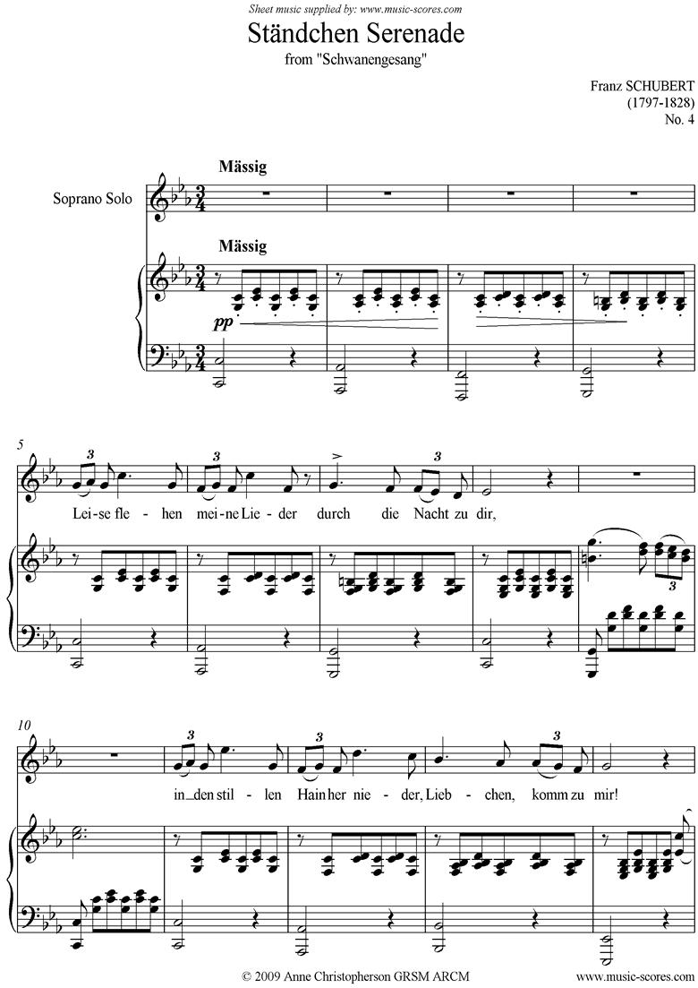 Standchen Serenade: Voice by Schubert