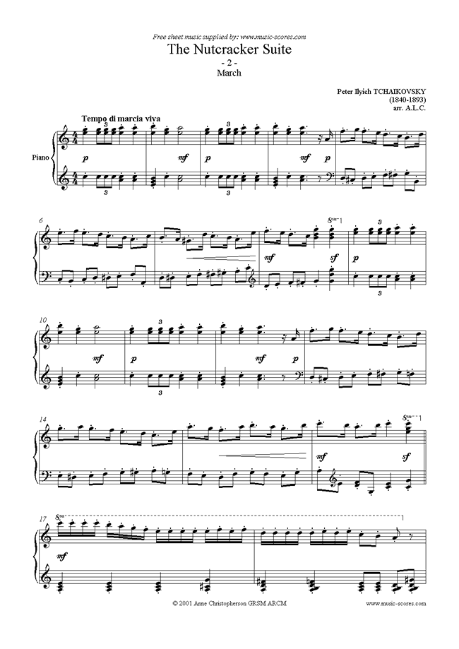 Front page of Nutcracker Suite: 02 March sheet music