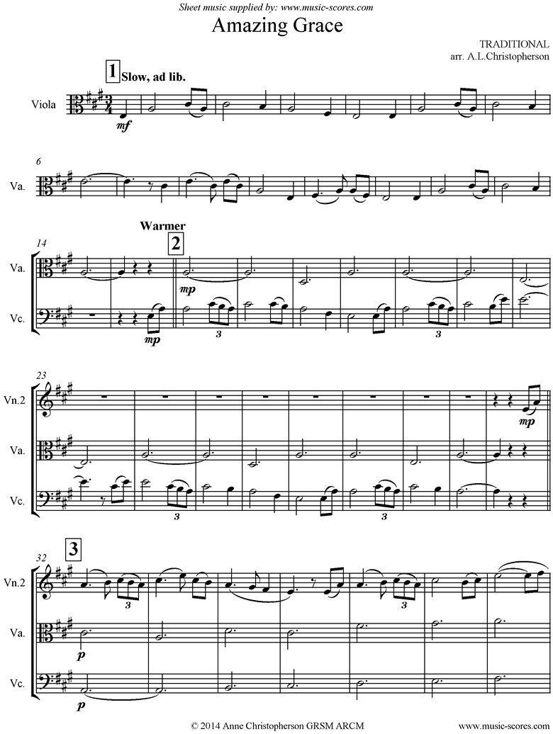 Front page of Amazing Grace: Strings: 5 mins sheet music