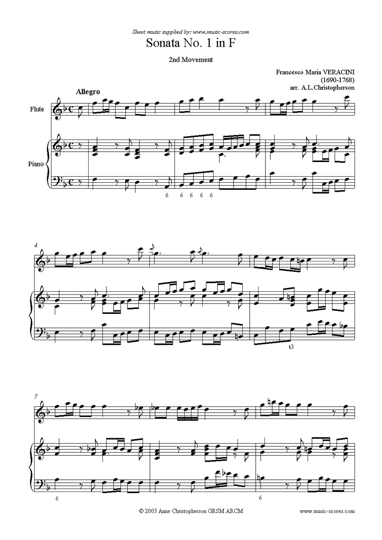 Front page of Sonata Prima: Flute, Piano sheet music