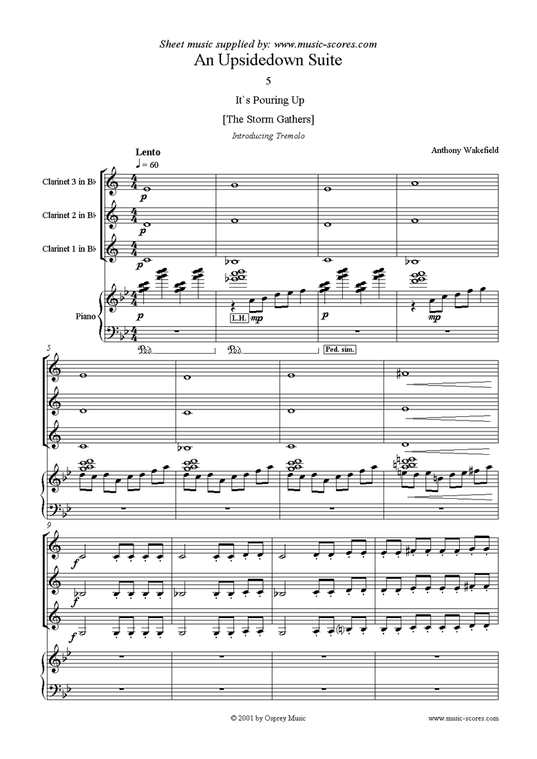 Front page of An Upside Down Suite sheet music