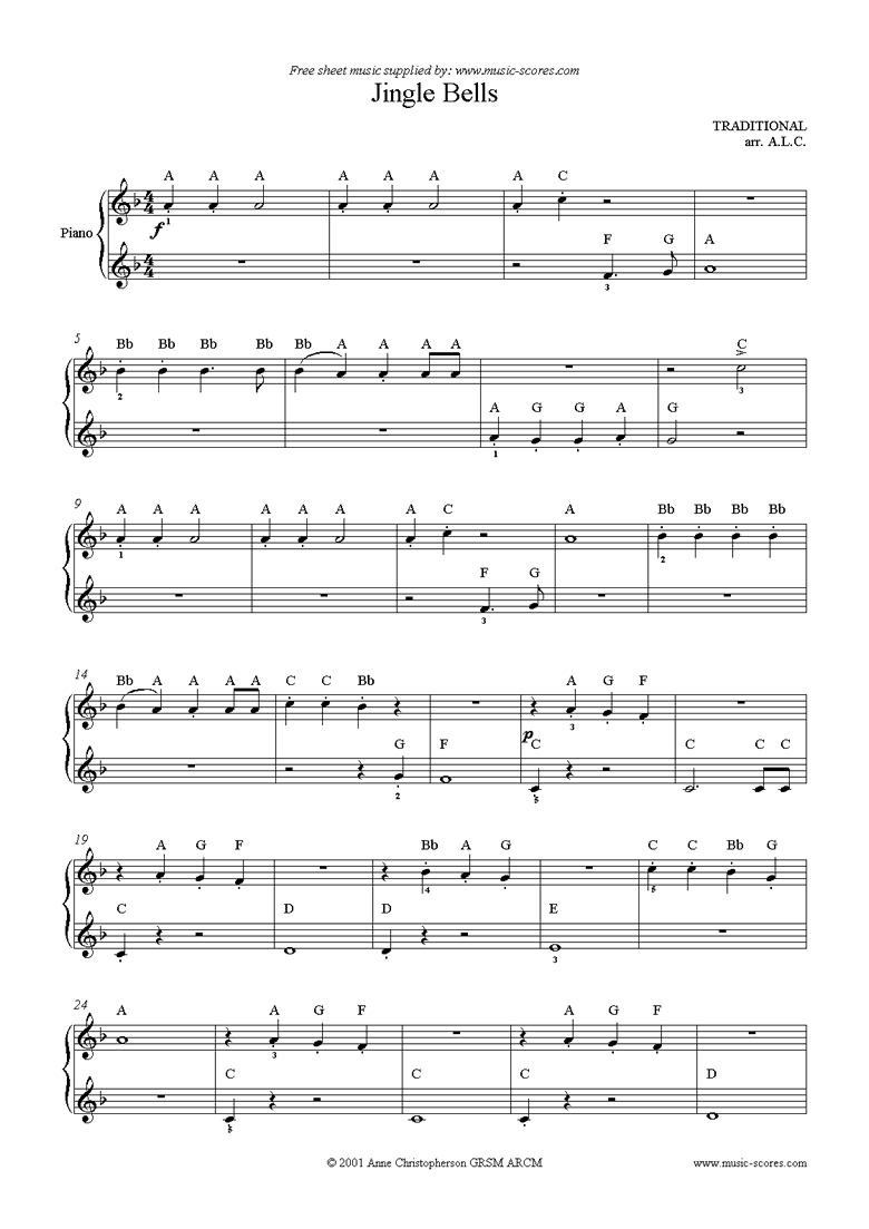 Front page of Jingle Bells: Easy Piano sheet music